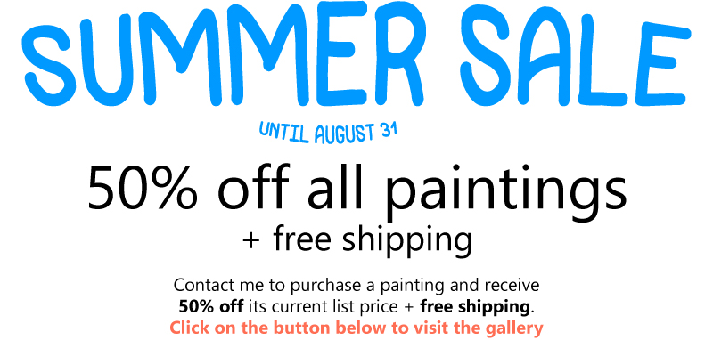 50% off all paintings summer 2018 sale