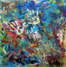 Textures of abstract painting Electromagnetic