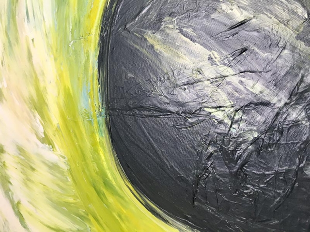 Up close detail of painting Eclipse angle 1