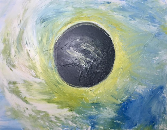 Impressionism painting of a solar eclipse