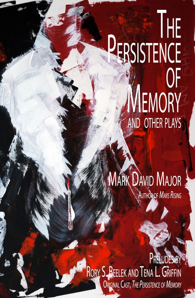"""Painting """"Who Am I"""" is the cover art for the play """"The Persistence of Memory"""" by Mark David Major"""