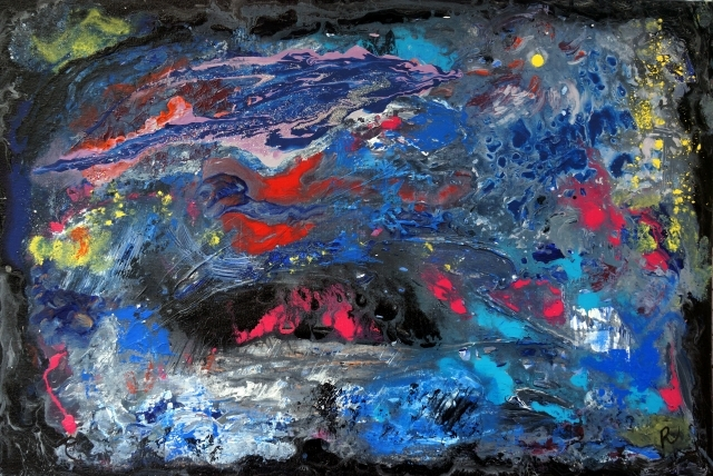 Painting on sale entitled Intergalactic
